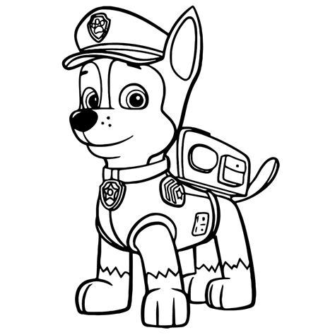 Dibujo de Chase, el perro de La Patrulla Canina para colorear