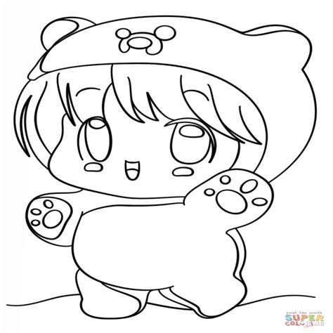Dibujo De Chibi Finn Kawaii Para Colorear Dibujos Para ...