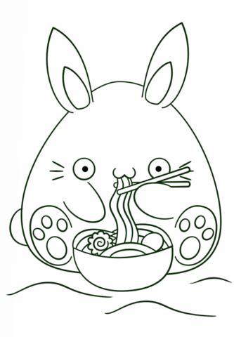 Dibujo de Conejo Kawaii para colorear | Dibujos para ...
