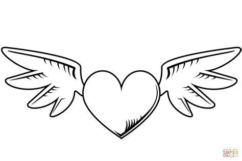 Dibujo de Corazón con alas para colorear | Dibujos para ...