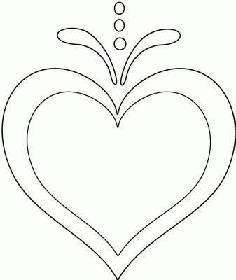 Dibujo de Corazón para pintar, imprimir y colorear ...