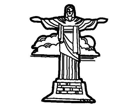 Dibujo de Cristo Redentor para Colorear   Dibujos.net