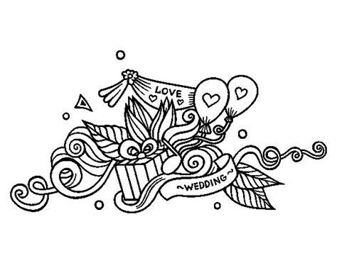 Dibujo de Decoración de bodas para Colorear   Dibujos.net