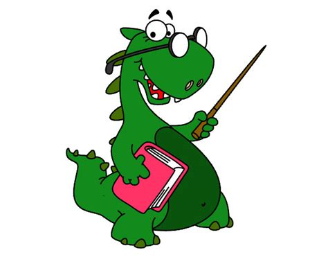 Dibujo de Dinosaurio profesor pintado por Jury en Dibujos ...