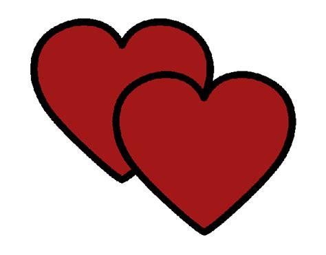 Dibujo de dos corazones enamorados pintado por en Dibujos ...
