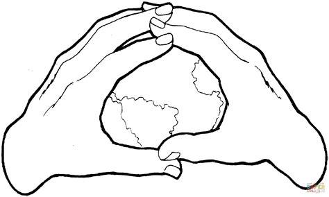 Dibujo de El Mundo en Tus Manos para colorear   Dibujos ...