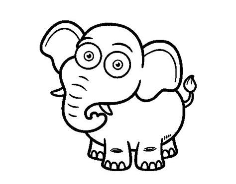 Dibujo de Elefante africano de sabana para Colorear ...