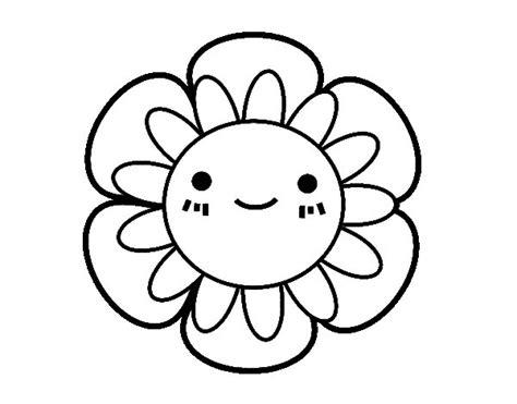 Dibujo de Flor infantil para Colorear   Dibujos.net