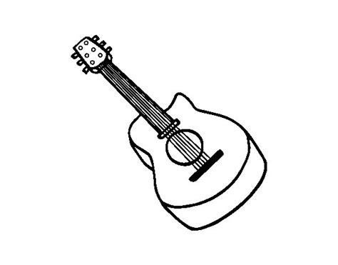Dibujo de Guitarra flamenca para Colorear - Dibujos.net
