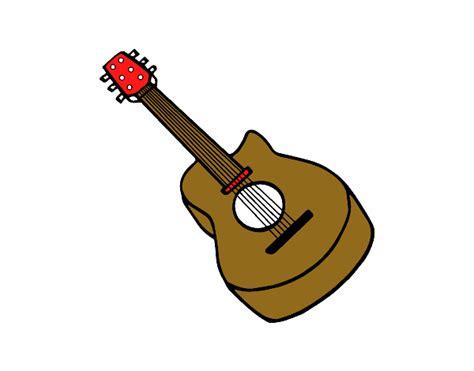 Dibujo de Guitarra flamenca pintado por en Dibujos.net el ...