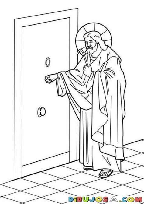 Dibujo de Jesus tocando a la puerta   COLOREAR BIBLICOS ...