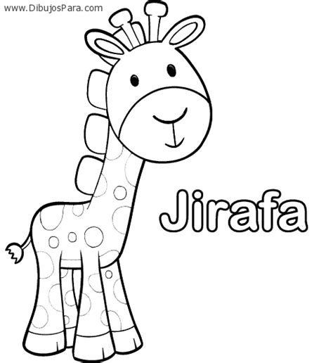 Dibujo de Jirafa con nombre | Dibujos de Jirafas para ...