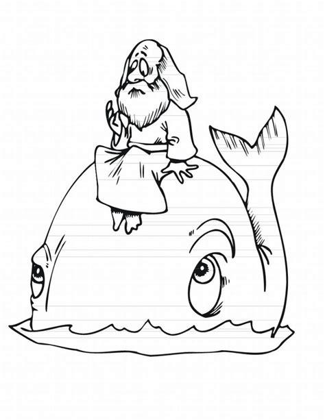 Dibujo de Jonás para colorear ~ Dibujos Cristianos Para ...