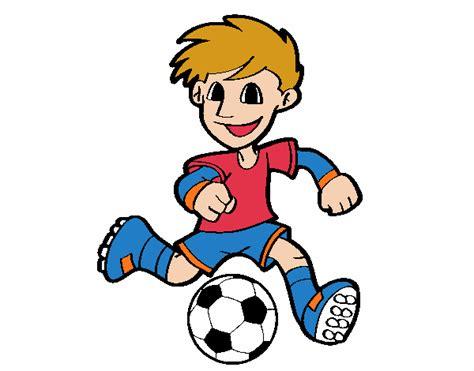 Dibujo de Jugador de fútbol con balón pintado por en ...