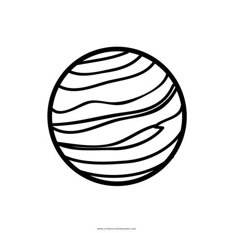 Dibujo De Júpiter Para Colorear - Ultra Coloring Pages