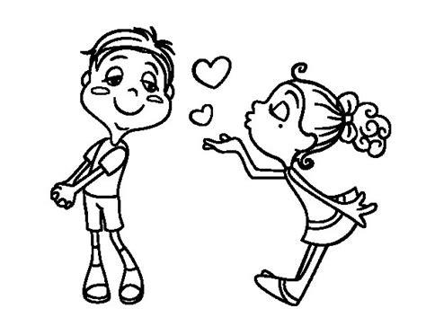 Dibujo de Lanzar un beso para Colorear   Dibujos.net