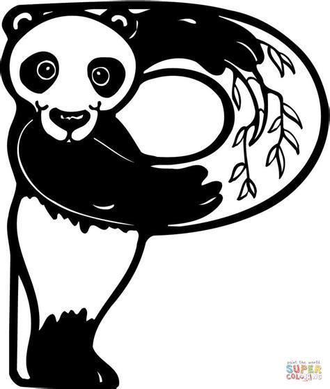 Dibujo de Letra P de Panda para colorear | Dibujos para ...