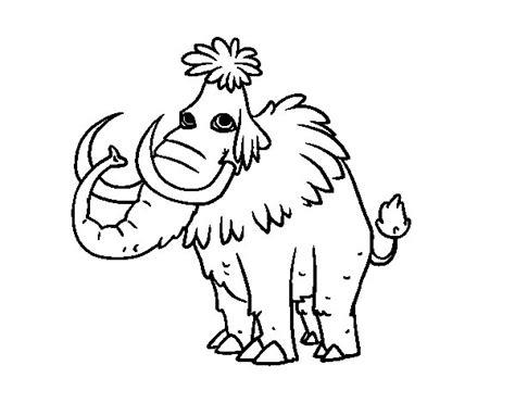 Dibujo de Mamut prehistórico para Colorear - Dibujos.net