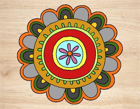 Dibujo de Mandala alegre pintado por en Dibujos.net el día ...