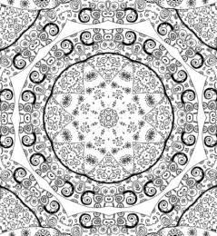 Dibujo de Mandala en Doodle para colorear | Dibujos para ...