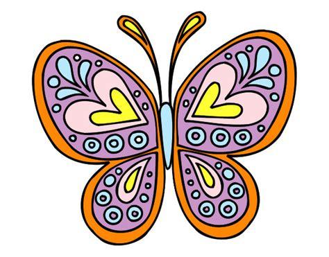 Dibujo de Mandala mariposa pintado por Dibujada en Dibujos ...