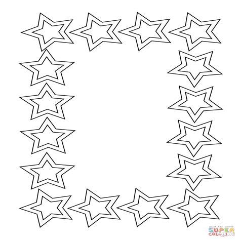 Dibujo De Marco De Estrellas Para Colorear Dibujos Para ...