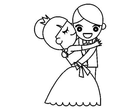 Dibujo de Marido y Mujer bailando para Colorear   Dibujos.net