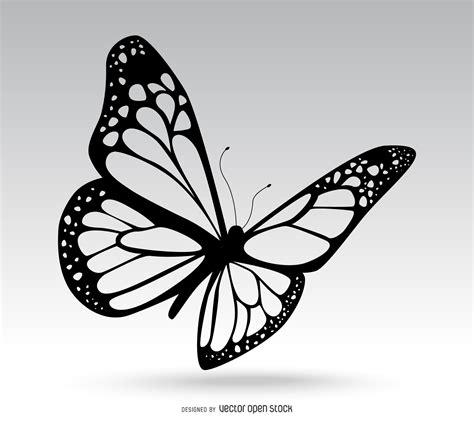 Dibujo de mariposa aislado - Descargar vector