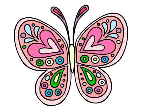 Dibujo de mariposa bonita pintado por Anneliese en Dibujos ...