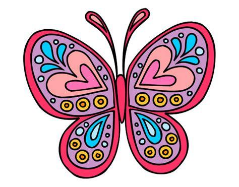 Dibujo de Mariposa De Colores pintado por Annsita en ...