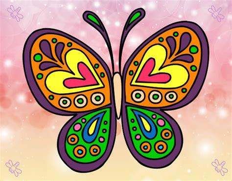 Dibujo de mariposa hippie pintado por Fonomj en Dibujos ...