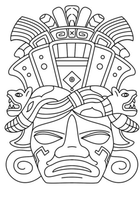 Dibujo de Máscara Maya para colorear | Dibujos para ...