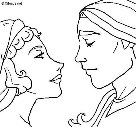 Dibujo de Mirada de novios para Colorear - Dibujos.net