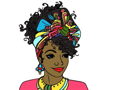 Dibujo de Mujer africana pintado por en Dibujos.net el día ...