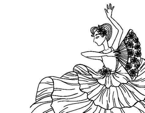 Dibujo de Mujer flamenca para Colorear - Dibujos.net