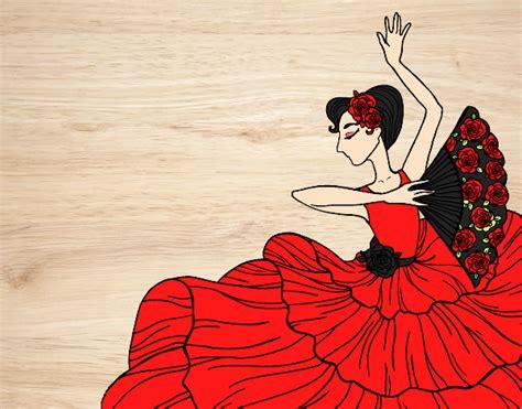 Dibujo de Mujer flamenca pintado por Bfflove en Dibujos ...