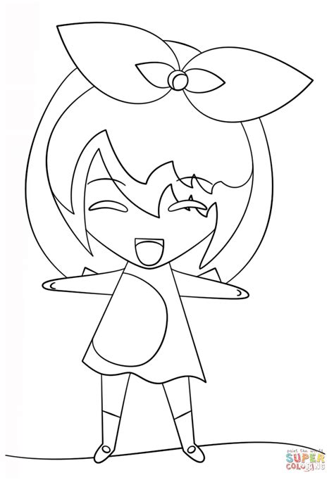 Dibujo de Niña Kawaii para colorear | Dibujos para ...