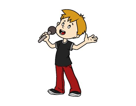 Dibujo de Niño cantando pintado por Agusnet en Dibujos.net ...