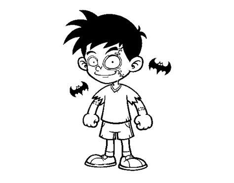 Dibujo de Niño zombie para Colorear   Dibujos.net
