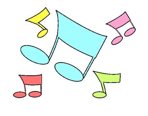 Dibujo de Notas musicales pintado por en Dibujos.net el ...