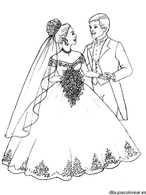 Dibujo de novios en la boda