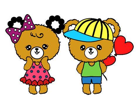 Dibujo de Ositos Kawaii enamorados pintado por en Dibujos ...
