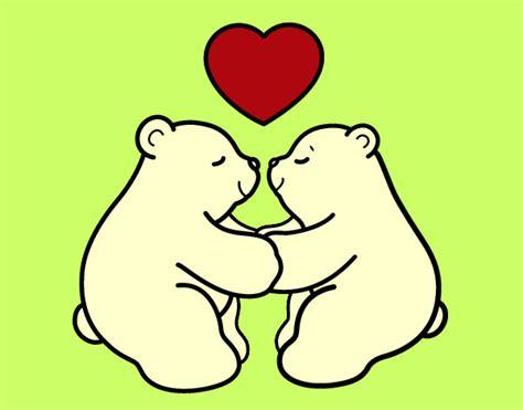Dibujo de Osos polares enamorados pintado por Lirisobera ...
