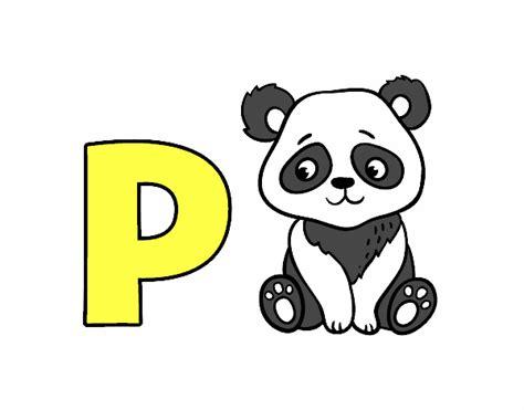 Dibujo de P de Panda pintado por en Dibujos.net el día 22 ...