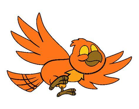 Dibujo de Pájaro volando pintado por en Dibujos.net el día ...