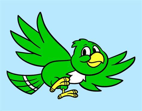 Dibujo de Pájaro volando pintado por Pandas en Dibujos.net ...