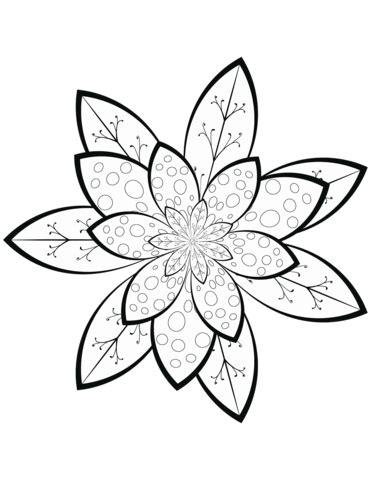 Dibujo de Patrón de flores para colorear | Dibujos para ...