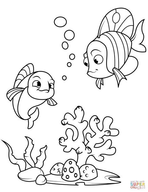 Dibujo de Peces de coral para colorear | Dibujos para ...