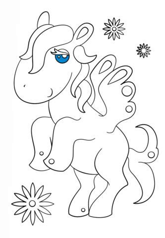 Dibujo de Pegaso Kawaii para colorear   Dibujos para ...