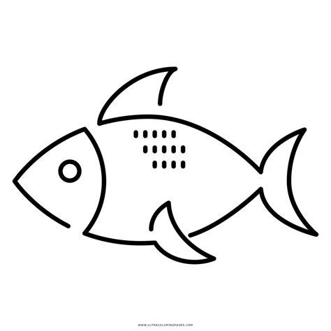 Dibujo De Pescado Para Colorear - Ultra Coloring Pages